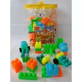Mainan Block Lego Susun Balok Murah 120 Pcs