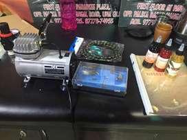 temprorary tattoo machine and air bursh