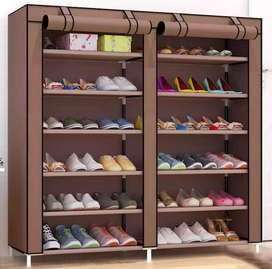 Fabric Shoes Rack Cabinet Storage Closet Organizer 12 Tiers Ultra Wide