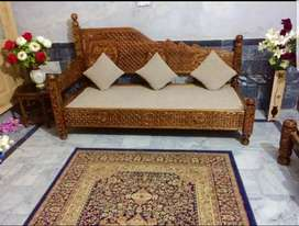 Pure swati wood Dhawan Sofa