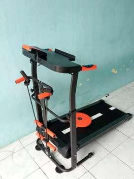 Alat olahraga Treadmill manual empat fungsi baru