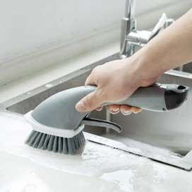 Press N Wash Kitchen Dish Cleaning Brush