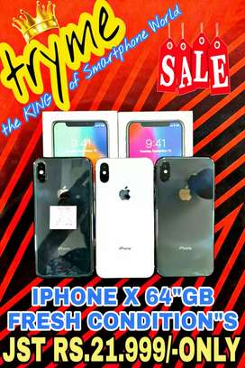 TRYME iPHONE X 64Gb Rom Fresh Conditions