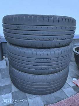 Half used tyre for Etios liva
