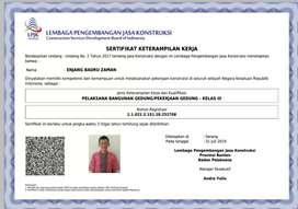 Jasa Resmi SBU/SKA/SIUJK/SPPL/SLO/SLF Seluruh indonesia