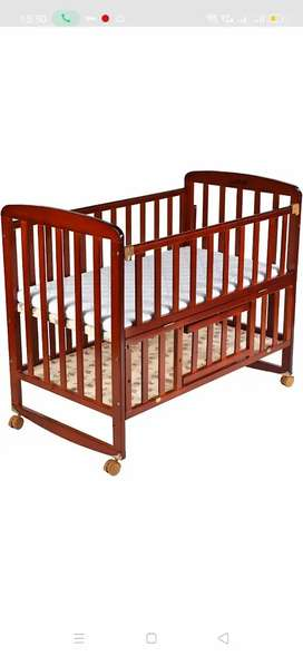 Baby Wooden Cot LuvLap ( Cherry Red)