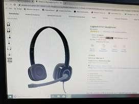 Logitech H151 Headphones just 2 Week old with bill 1 year warranty