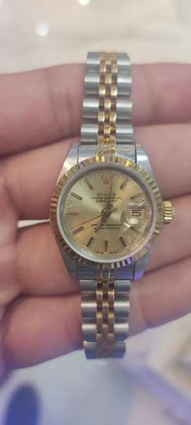Rolex Datejust twotone watch available.Swiss watches Co