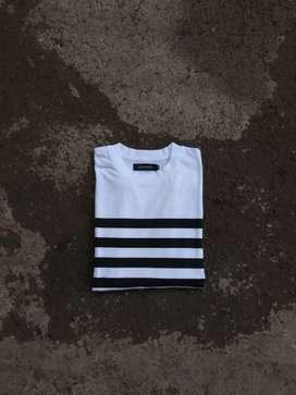 Tshirt stripe loups blacs