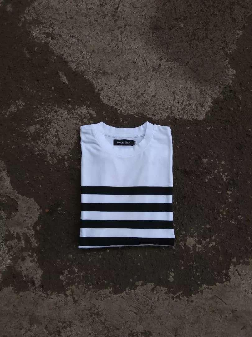 Tshirt stripe loups blacs 0