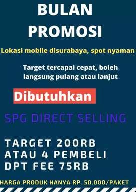 Direct selling salesgirl