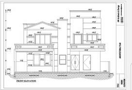 Architectural and structural drawings in auto cad