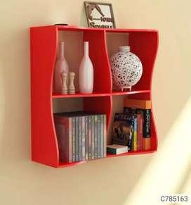 Wooden Wave Book Shelfs