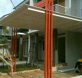 $$00027$$ canopi tiang variasi atap alderon rangka tunggal