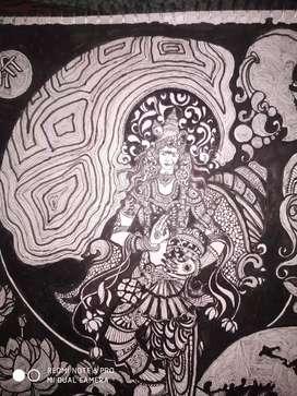 Painting samundar manthan