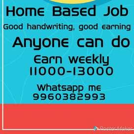 Earn money from home, handwriting work