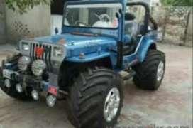 Blue modified jeep