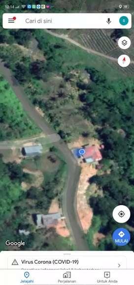Rumah 12x12 m dan tanah 180x40 m pinggir jalan raya