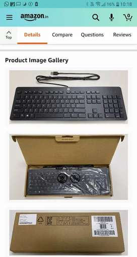 Urgent sell hp slim Keyboard & Dell keyboard like new condition