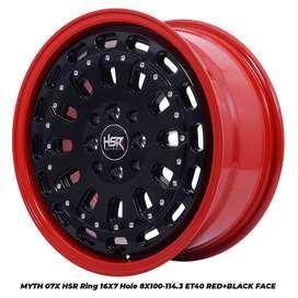 MYTH07X HSR R16X7 H8X100-114,3 ET40 RED/BK FACE