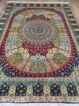 Hand made carpet (silk & silk)