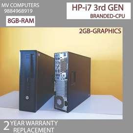 Hp/cpu=dvd-i7 3rd Gen-500 hdd&8gb ram#2yrs warranty replaceme)branded