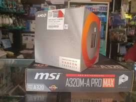 PROCCESOR AMD RYZEN 5 3400G & MSI A320M-A PRO MAX