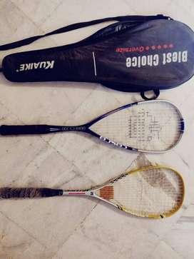2 Squash Racquets- Brands Kuaike & Cosco