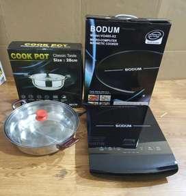 Kompor listrik induksi merek Bodum Micro Computers Magnetic