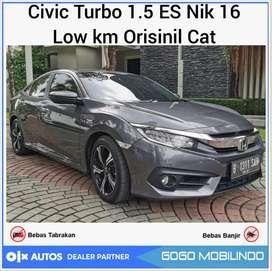 Civic Turbo 1.5 ES CVT 2016 sedan orisinil bs kredit