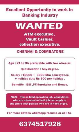 Jobs for Field operation executive in ATM Industry