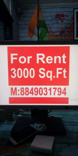 Show room for rent.