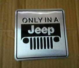 Only in a jeep metal decal