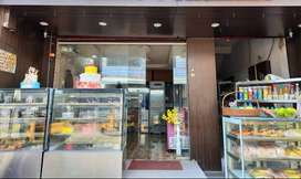 Restaurant with cake,coffee,juice shop sale with swiggy,zomato orders