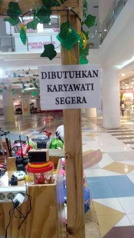 Dibutuhkan karyawati segera mall ITC Depok