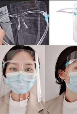 Face Shield Dengan Tambahan Kacamata