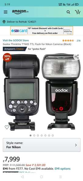 Godox 685,ttl flash, with x1 tiger,,,1,month old