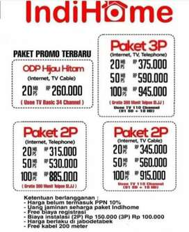 Pasang Indhome ( internet + tv cable )