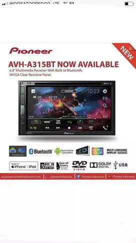 A 315 BT pioneer tv mobil doubledin tape usb dvd