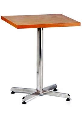 Meja Cafe Table 60x60 (cm) + Kaki Cakar Chrome New Star CT 401
