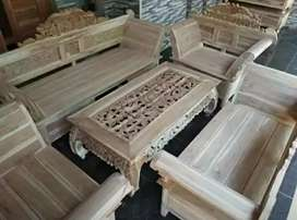 free ongkir pembayaran cod kursi tamu kayu jati asli jolan