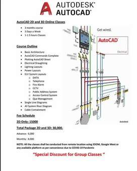 Autocad Online Classes 2d and 3d