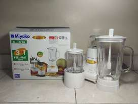 blender miyako 3 in 1 kaca BL 102GS +dry &wet mill (sinar kita)