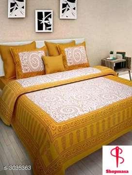 Smart Buy Cotton Printed Double Bedsheets