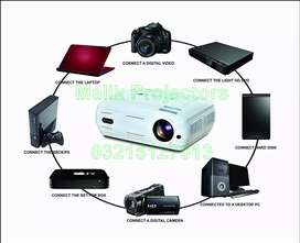 Multimedia Projector on Rent Big Screen Full HD HDMI 3D LED SMD OHP