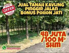 Jual Kavling Murah Pinggir Jalan Bonus Pohon Jati Siap Panen