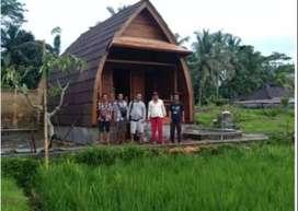 rumah kayu bongkar pasang