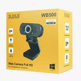 Webcam m-tech 1080p full hd Wb500 - Pc web camera Usb 2.0 wb-500