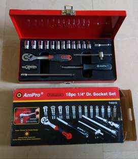Socket Tool Ratchet Goti Set 18pc AmPro Imported