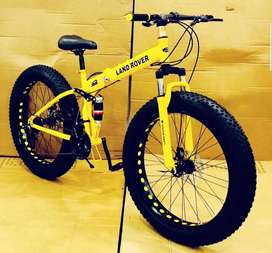 Land rover fat tyre foldable cycle with shimano 21 gears